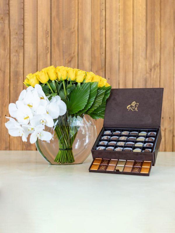 Send treats as well as flowers with WUD Flowers, Dubai.